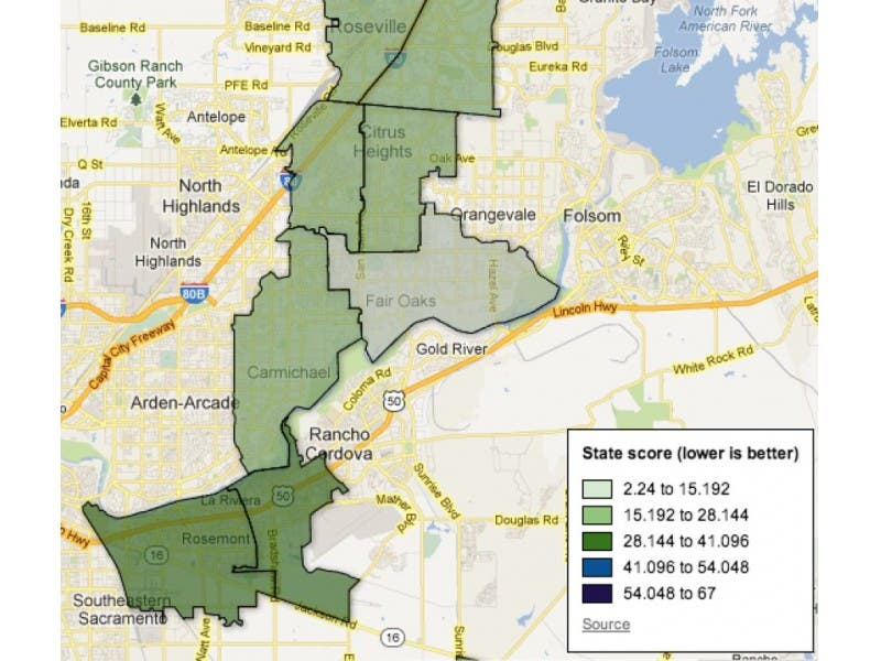 How Bad is Pollution in Citrus Heights? See What New State Figures