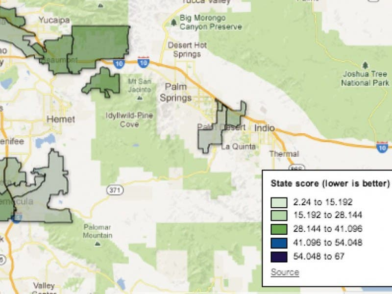 Rancho Mirage Zip Code Map.How Bad Is Palm Desert Pollution See What New State Figures Say