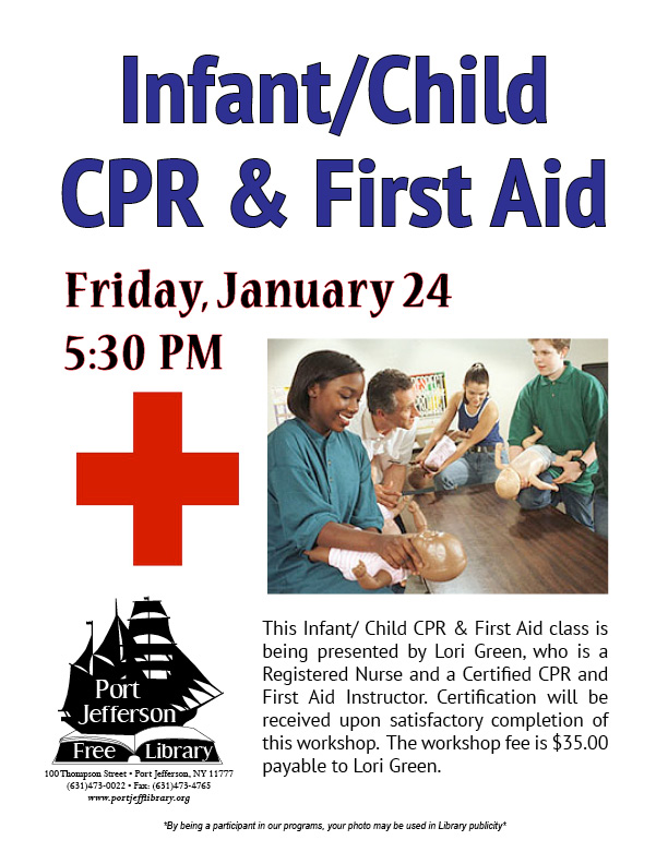 Infant/ Child CPR & First Aid Class | Port Jefferson, NY Patch