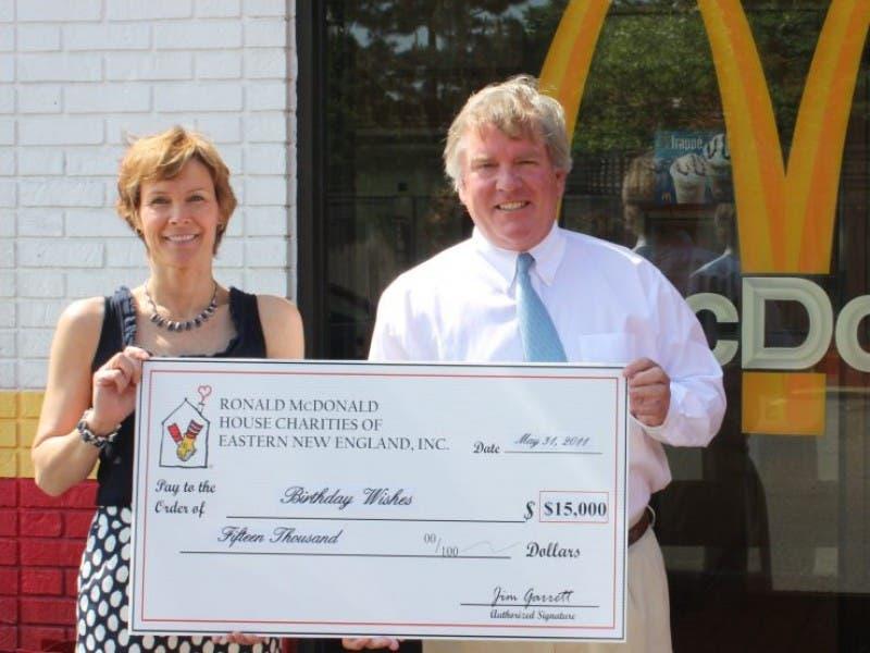 Ronald McDonald House CharitiesR Of Eastern New England Donates