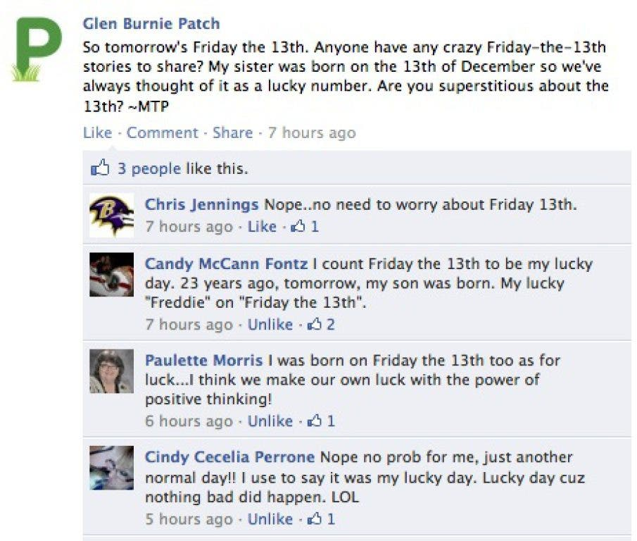 POLL: Are You Superstitious About Friday the 13th? | Glen Burnie, MD
