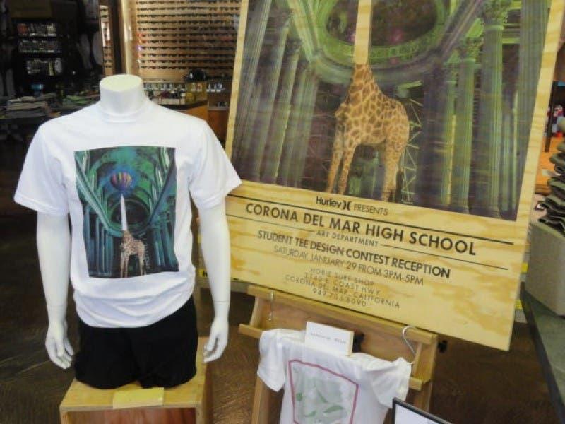 Students T Shirts Displayed At Hobie Surf Shop Newport Beach Ca
