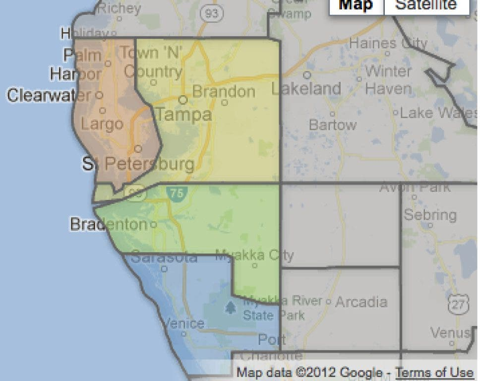 Florida County Map Google.Which Florida County Has Most Gun Permits Sarasota Fl Patch