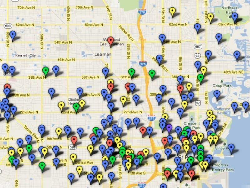 Crime Map Of Florida.St Pete Crime Map St Pete Fl Patch