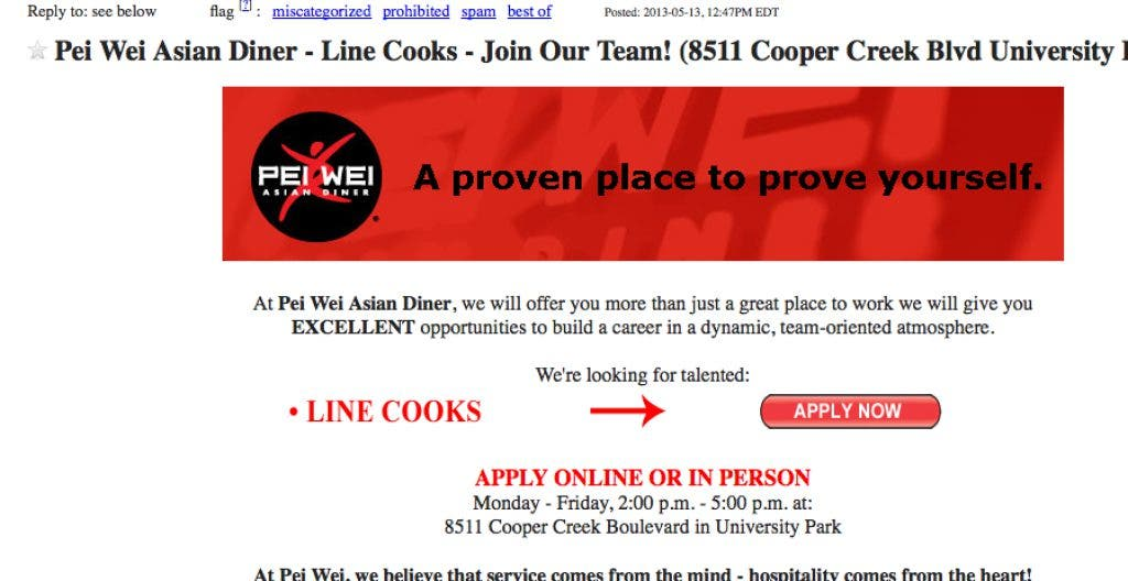 Sarasota Area Job Listings From Craigslist Sarasota Fl Patch
