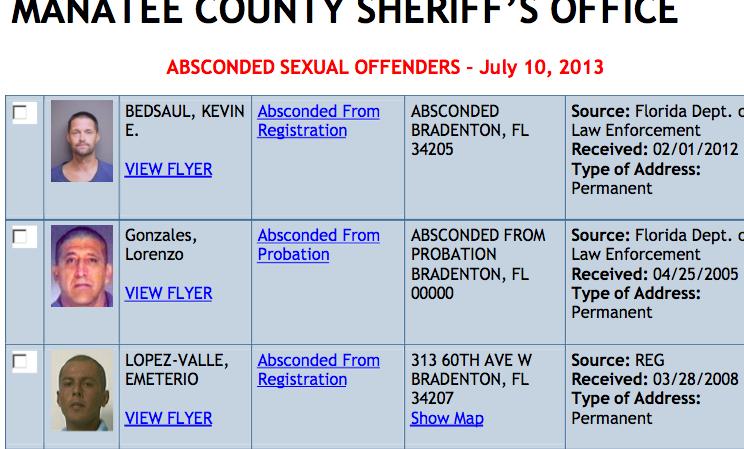 Sex offender location bradenton florida