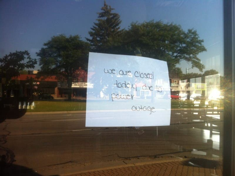 Businesses Close Due to Power Outage