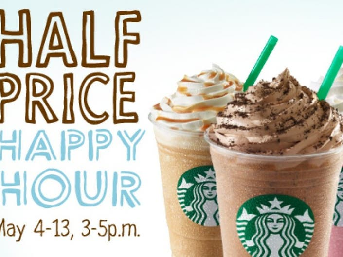 Starbucks Happy Hour Is Today Frappuccino Lovers Rejoice