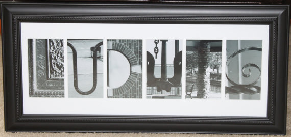 Letter Made Out Of Objects.Found It On Etsy Your Name In Pictures Montgomery Il Patch