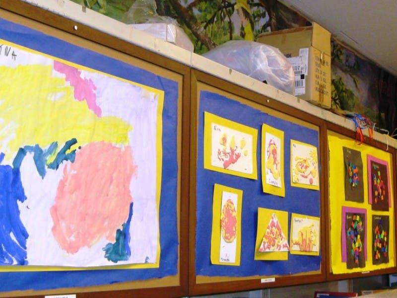 Garden City Nursery School Displays Artwork At Library 0