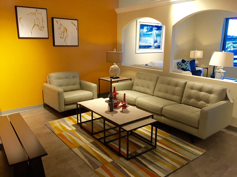 Hamiltons Sofa Leather Gallery Opens