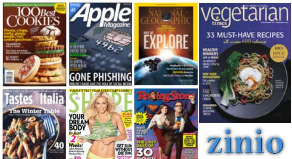 Zinio is here – magazines you can download for free! | Stow