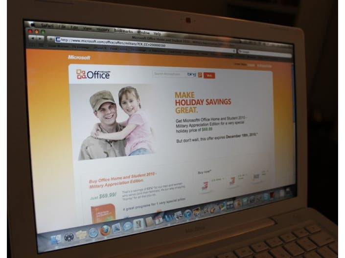 microsoft office for home use military program