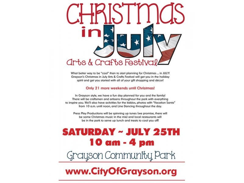 christmas in july comes to grayson - How Christmas Started