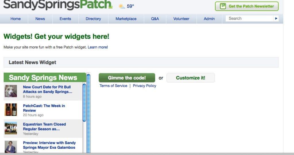 Now on Sandy Springs Patch: Widgets | Sandy Springs, GA Patch