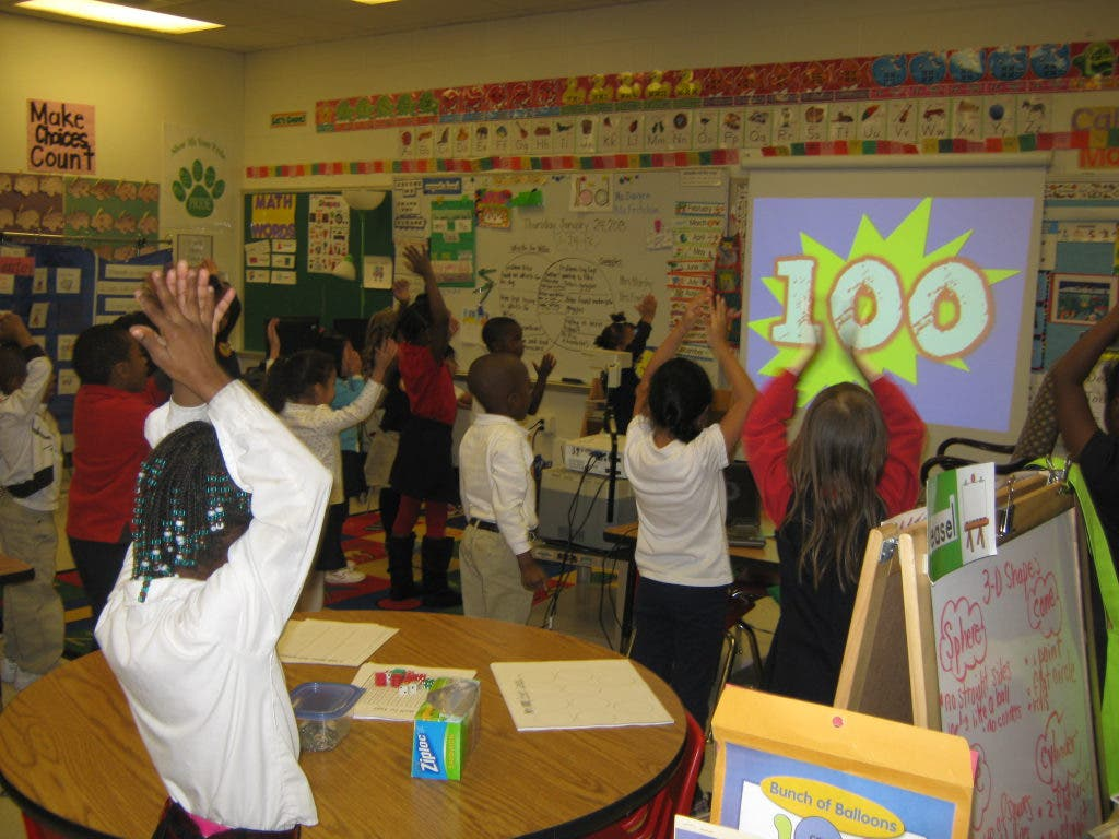 Woodland Elementary Students Celebrate 100th Day of the School Year