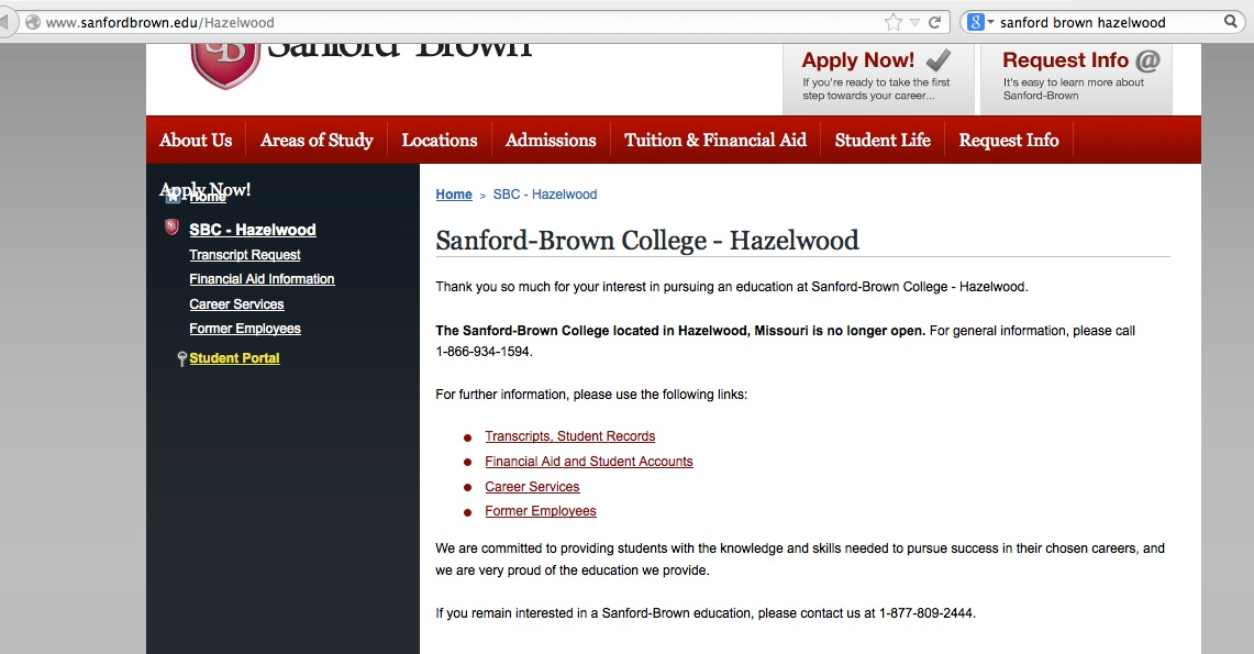 Sanford Brown College Hazelwood Closes Hazelwood Mo Patch