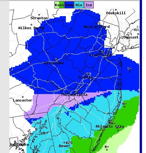 Weather Alert Winter Storm Linus Could Blanket New Jersey With Snow Freezing Rain Sunday Marlboro Nj Patch