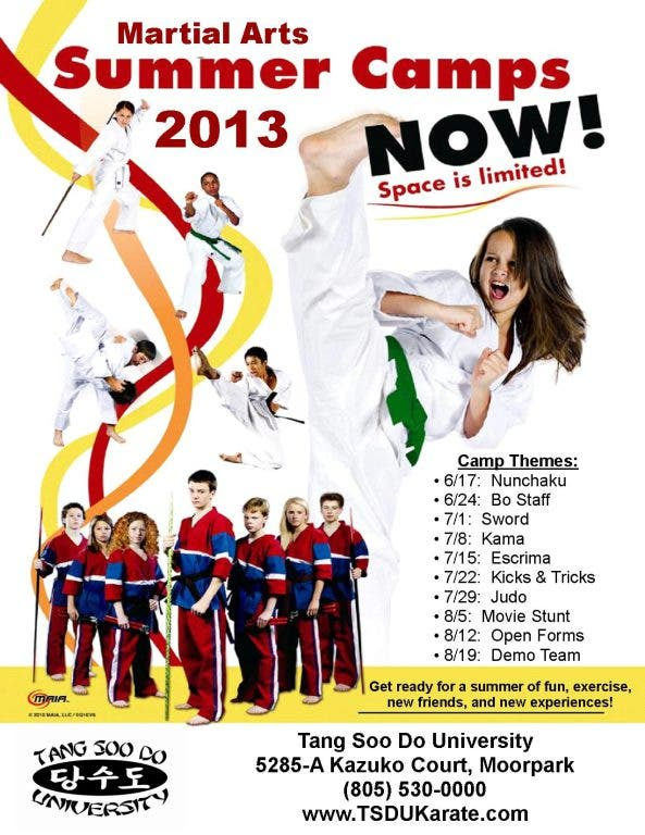 Karate Camp Pre-Registration   Moorpark, CA Patch