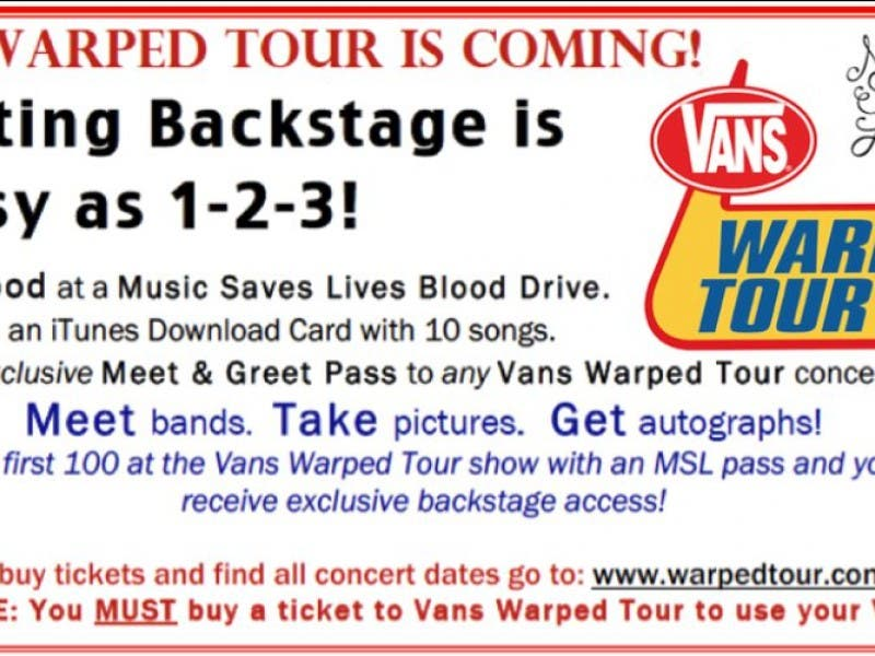 How to get backstage passes for warped tour