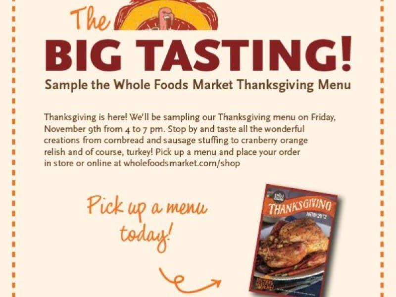 The Big Tasting A Whole Foods Market Thanksgiving Menu Sampling