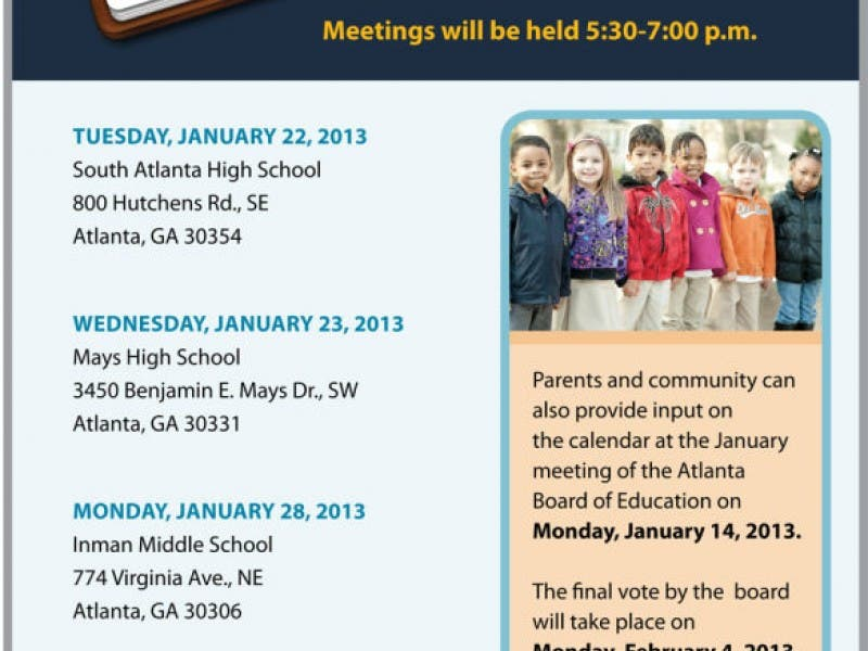 Aps Calendar Vote Pushed To March Virginia Highland Ga Patch