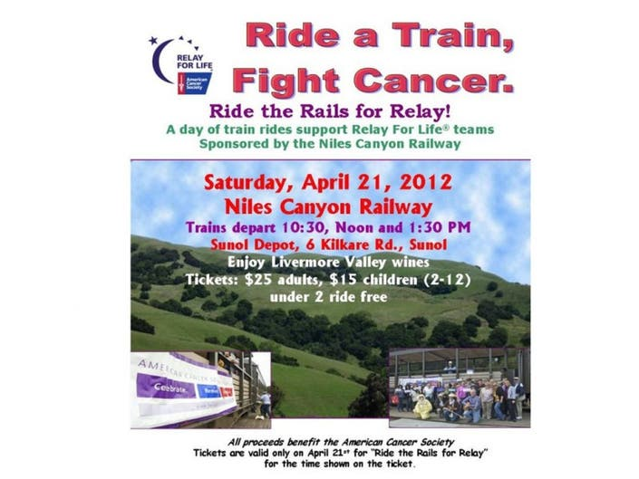 Ride The Rails For Relay For Life of Pleasanton