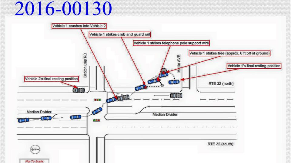 Waterford Police Release Maynard Accident Diagram To The Public