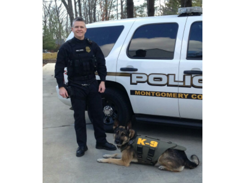 Police Canines Receive Protective Vests from Charity