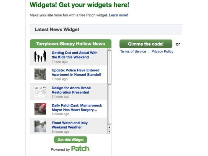Get Your Tarrytown Patch Widget! | Tarrytown, NY Patch