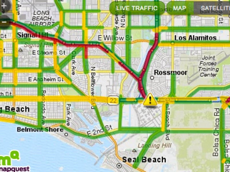 405 Traffic Map.Accident On 405 Near Seal Beach Boulevard Real Time Traffic Report