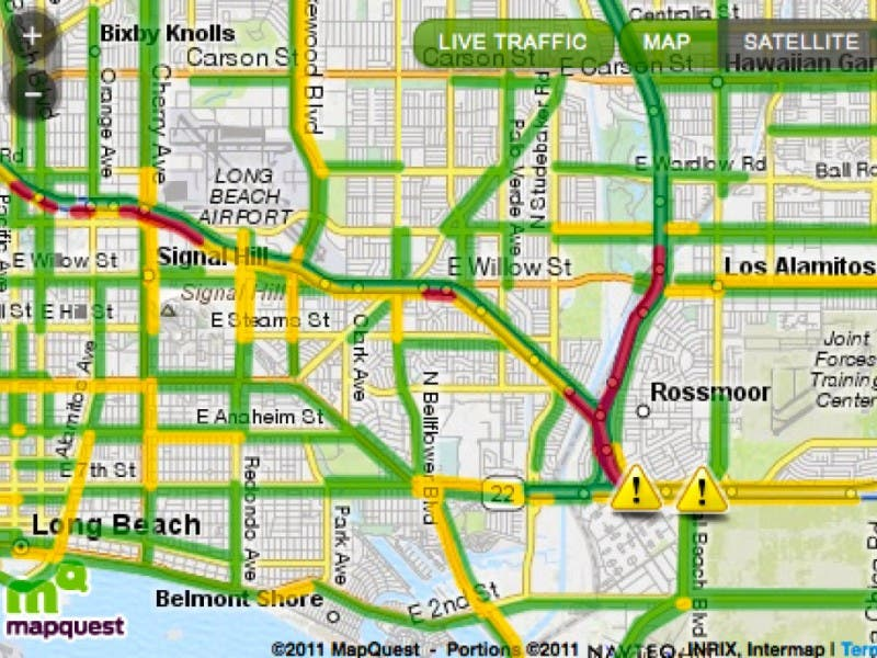Real Time Traffic Map Accident On The 405 Los Alamitos Ca Patch