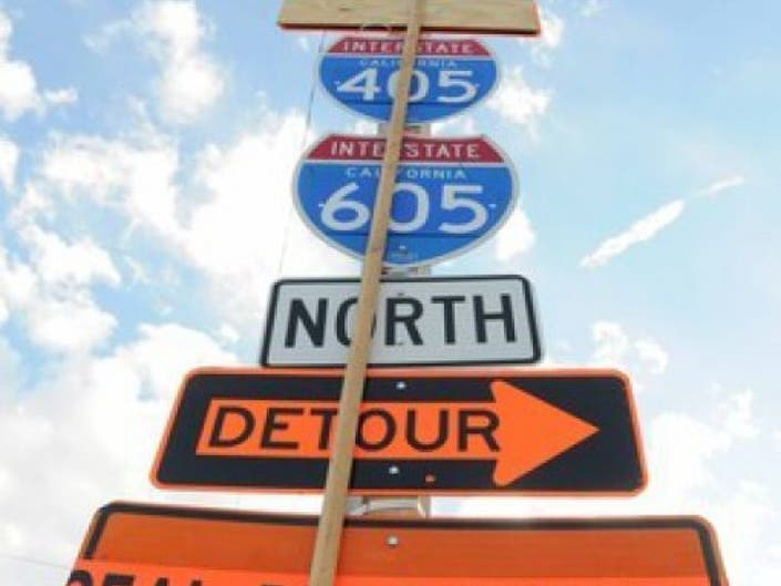 Full 405 Freeway and Connector Closures Planned All Week