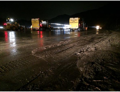 Mudslide Closes 241 and 91 Freeways for Hours   Laguna Beach, CA Patch