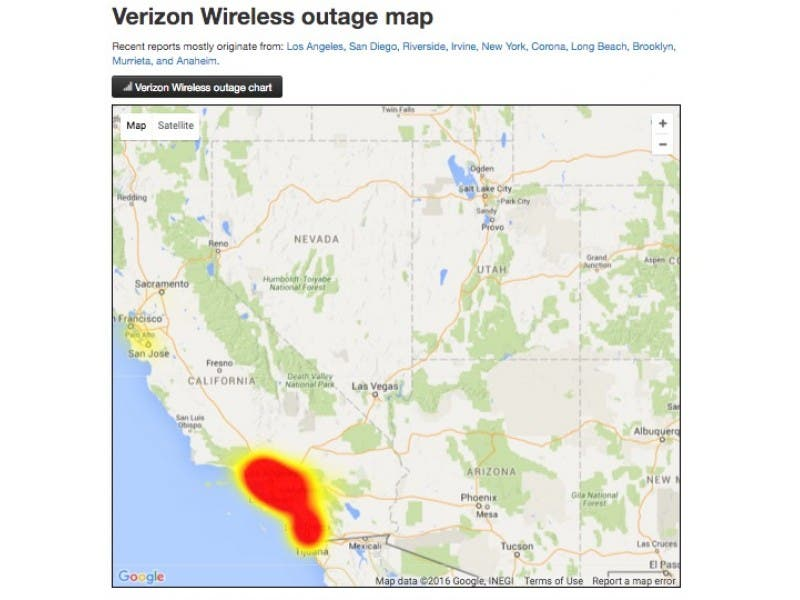 UPDATED: Verizon Outage Blankets Southern California | Los Alamitos ...