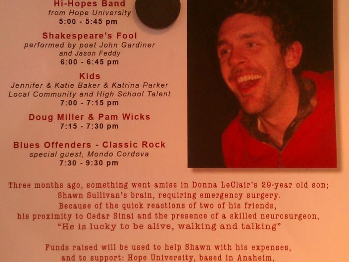 Benefit Concert for Shawn Sullivan This Sunday in Laguna