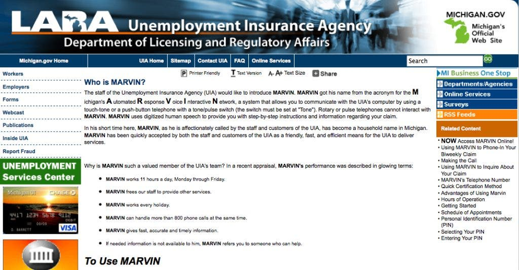 Marvin Unemployment Website Available Through Fourth Of July Huntington Woods Mi Patch