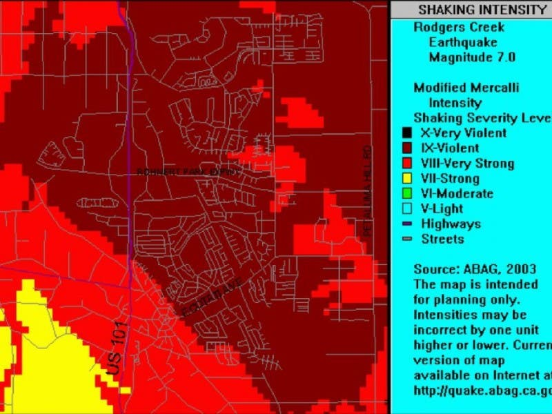 Rohnert Park Fire Map.Experts Say Next Big Earthquake Could Decimate Rohnert Park And