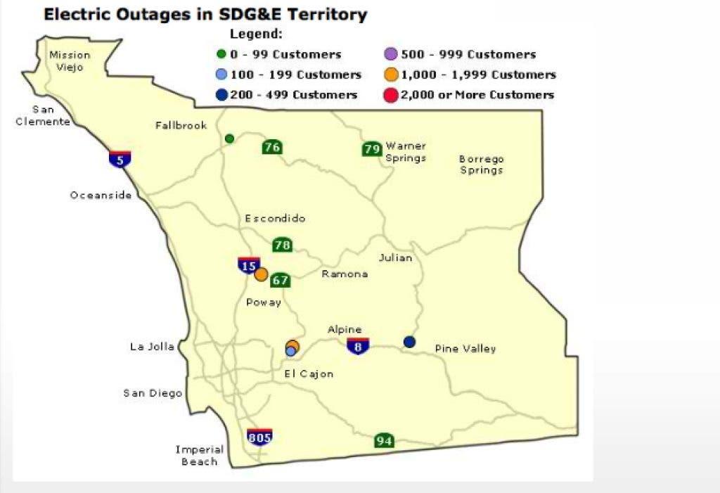 Update Power Back On For Most Residents Rancho Bernardo