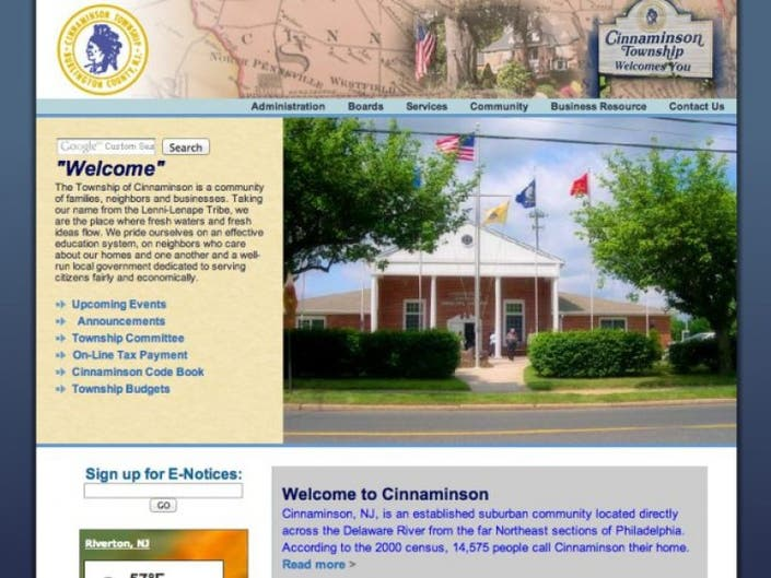 Caring About Our Neighbors As Expected >> Township Website Redesign Expected Soon Cinnaminson Nj Patch