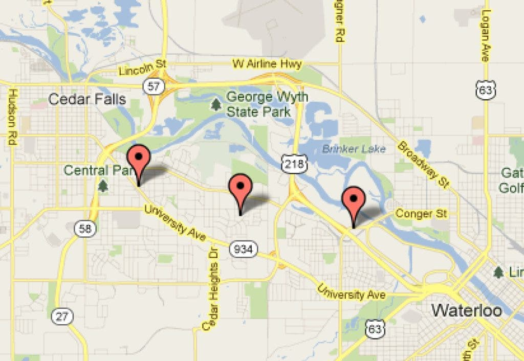 MAP: Hunt for Garage Sales in Cedar Falls, Waterloo Area ... Garage Sales By Map on fishing maps, mafia maps, shopping mall maps, insurance maps, livestock maps, interactive sales maps, department store maps, general maps, seattle washington coast maps, gettysburg maps, employment maps,