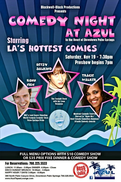 COMEDY NIGHT AT AZUL STARRING LA'S HOTTEST COMICS | Palm