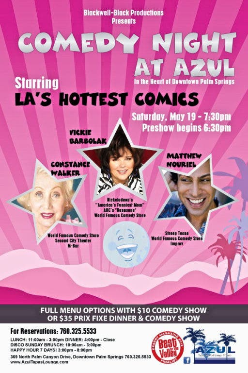 COMEDY NIGHT AT AZUL STARRING LA'S HOTTEST COMICS | Palm