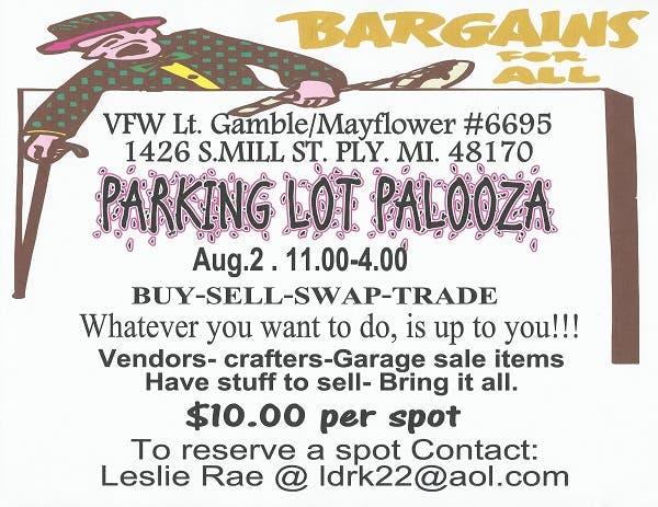 Parking Lot Palooza At The Plymouth VFW - Buy-Sell-Swap-Trade