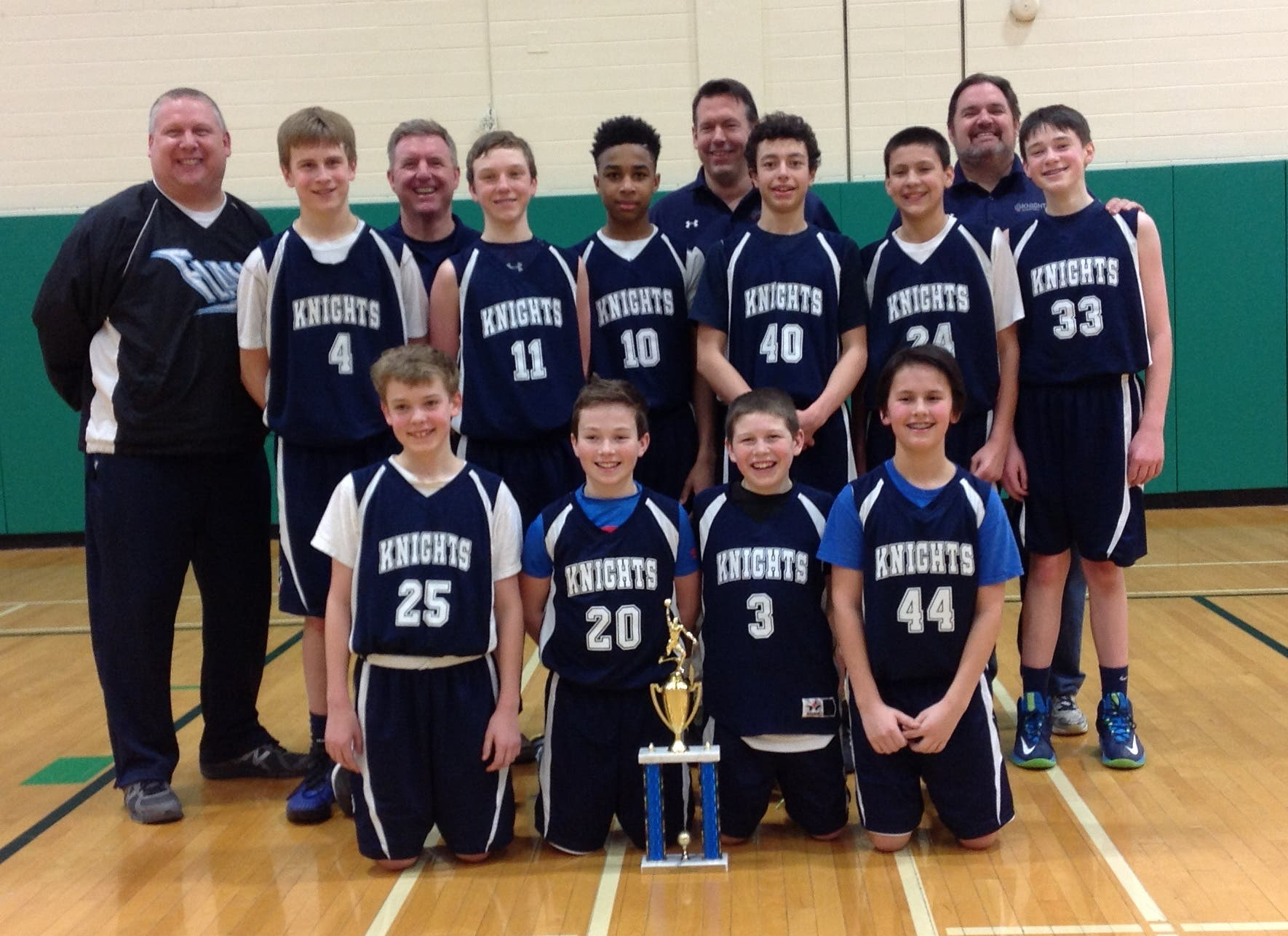 Knights Basketball 7th Grade Dytbl Gold B Playoff