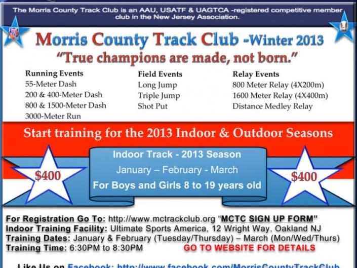 Indoor Track Program   Chatham, NJ Patch