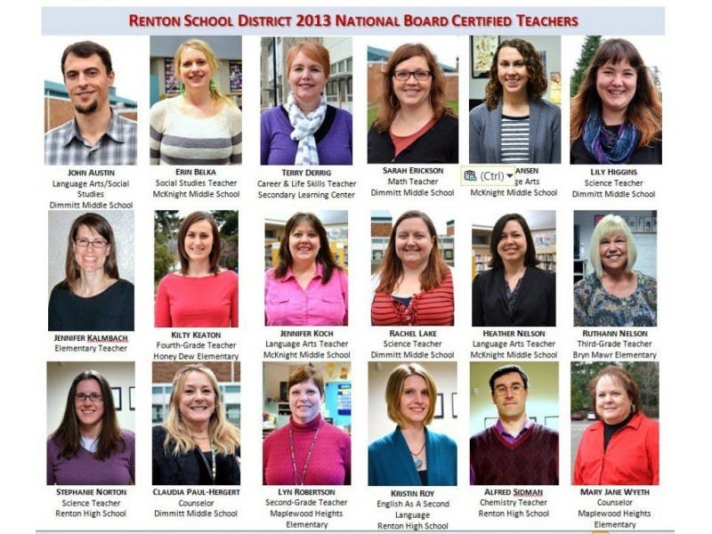 18 Renton Teachers Earn National Board Certification Renton Wa Patch