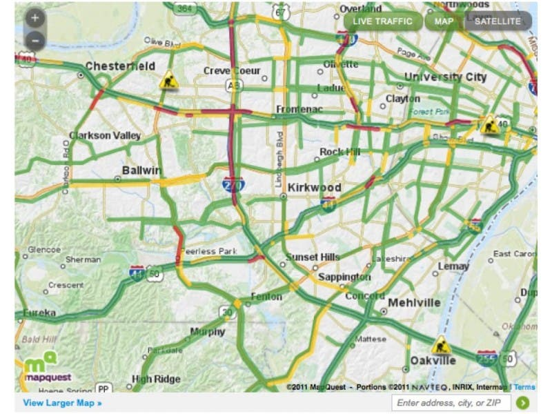 Traffic Map St Louis.Live Commute St Louis Area Traffic Status Arnold Mo Patch
