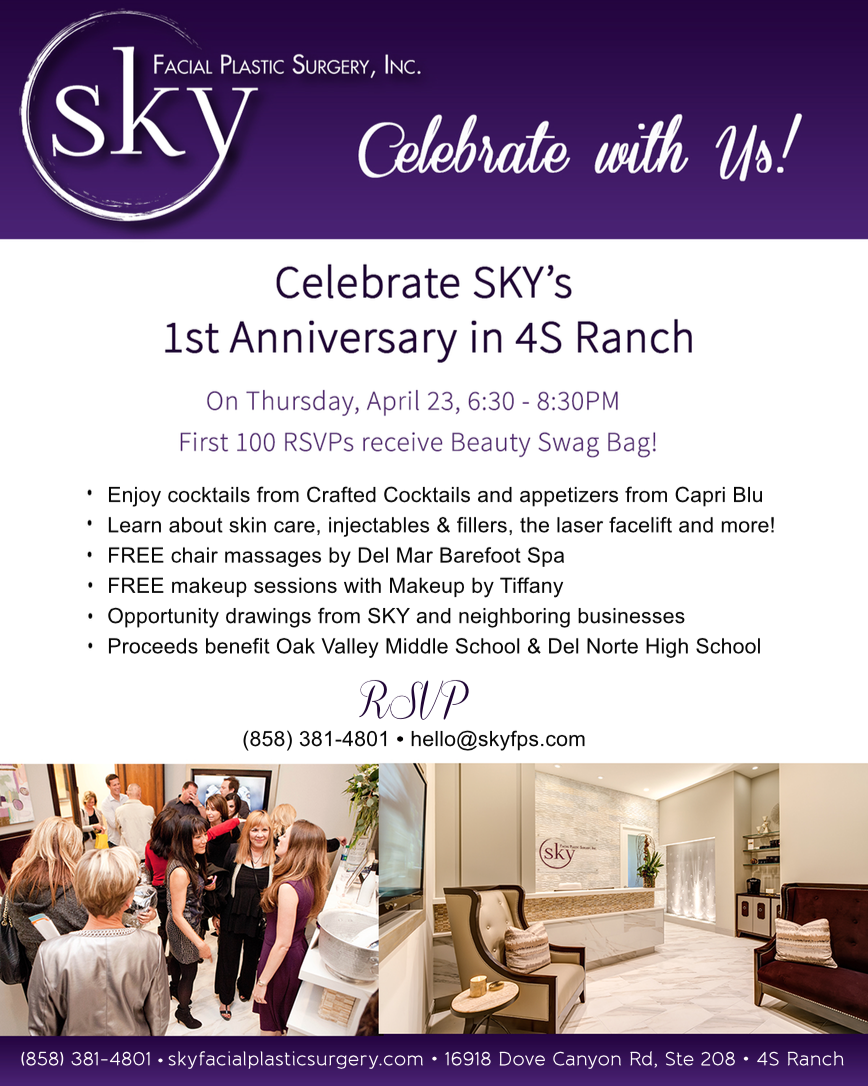 SKY Facial Plastic Surgery's 1st Anniversary Celebration