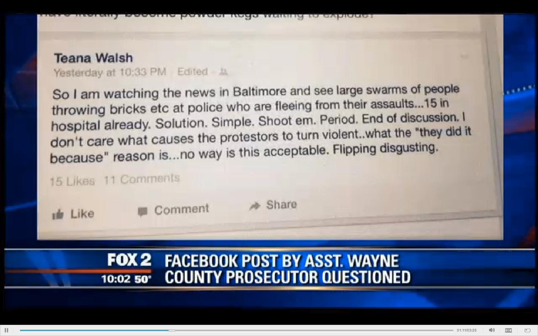 Latest on Assistant Wayne County Prosecutor Who Said